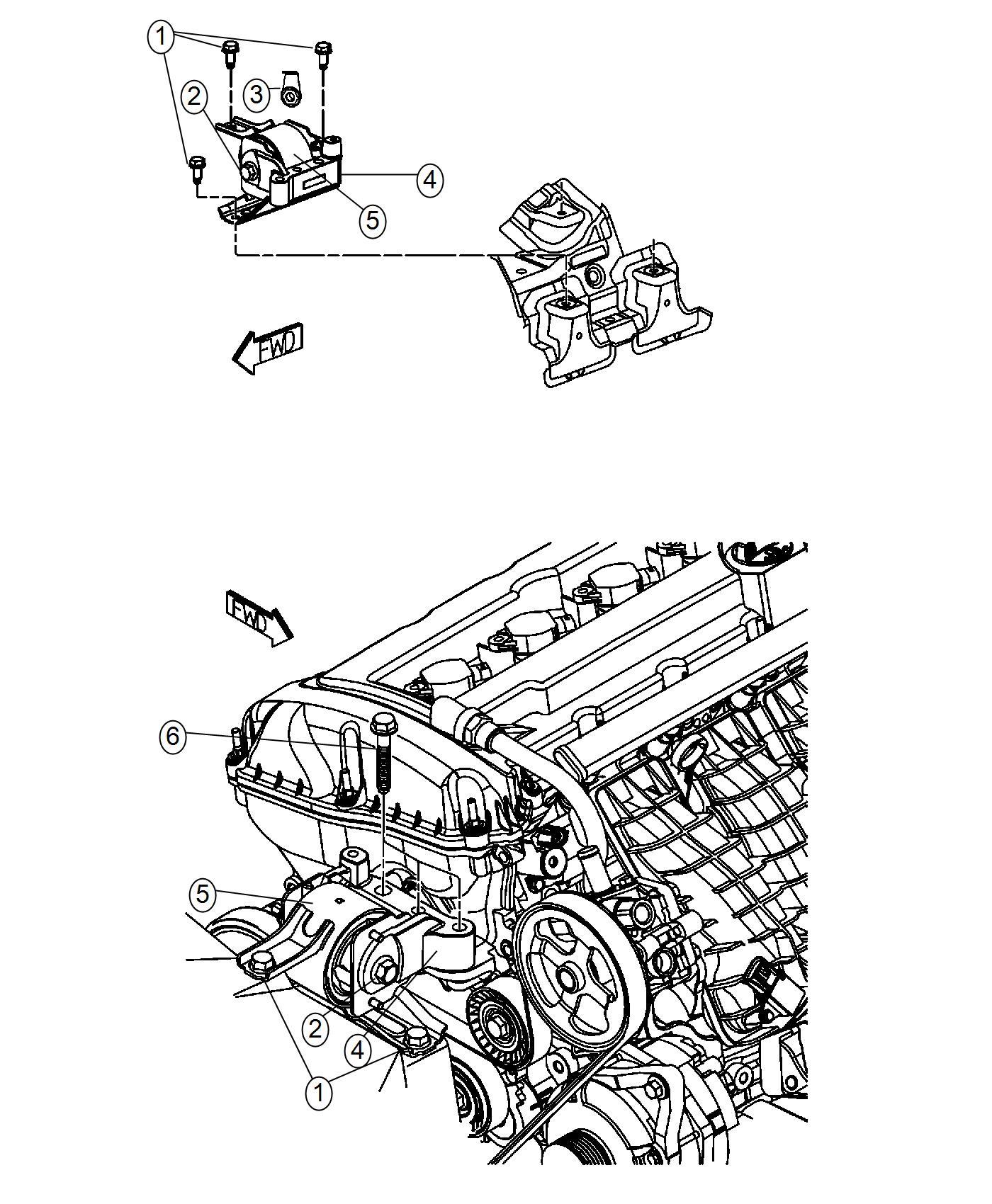 2016 Jeep Compass Bracket, bracket package. Engine mount