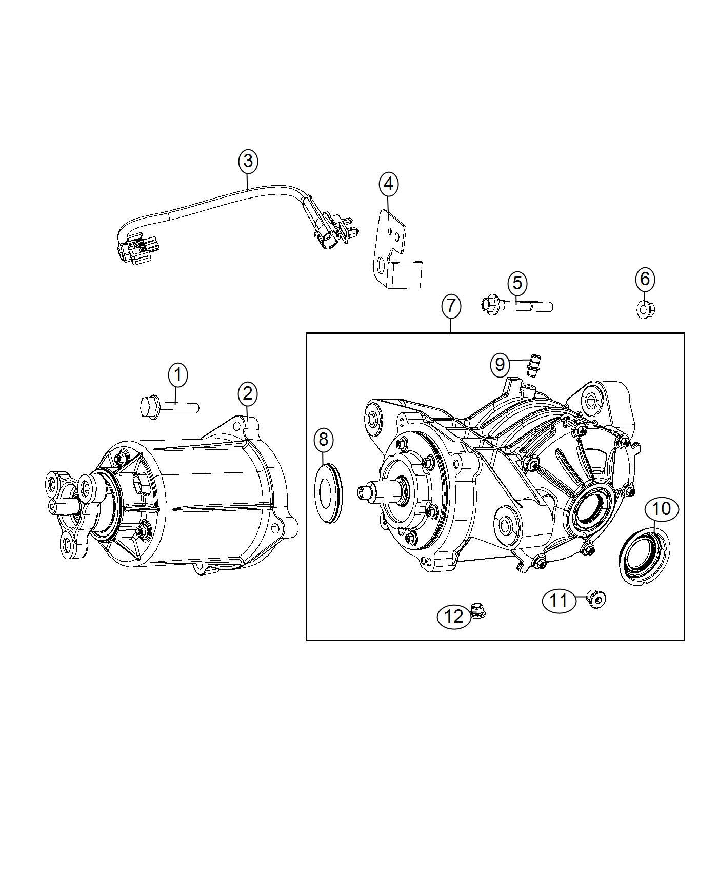 2008 Chrysler Sebring Differential. Rear axle. Suspension