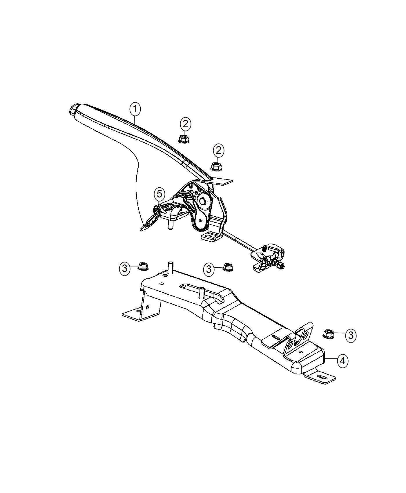 2016 Dodge Dart Lever. Parking brake. Trim: [no