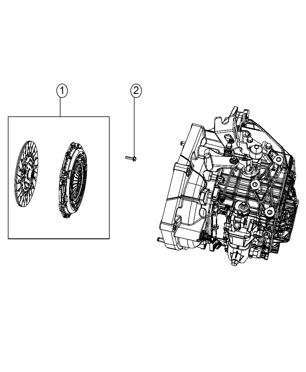Dodge Dart Clutch kit. Used for: pressure plate and disc