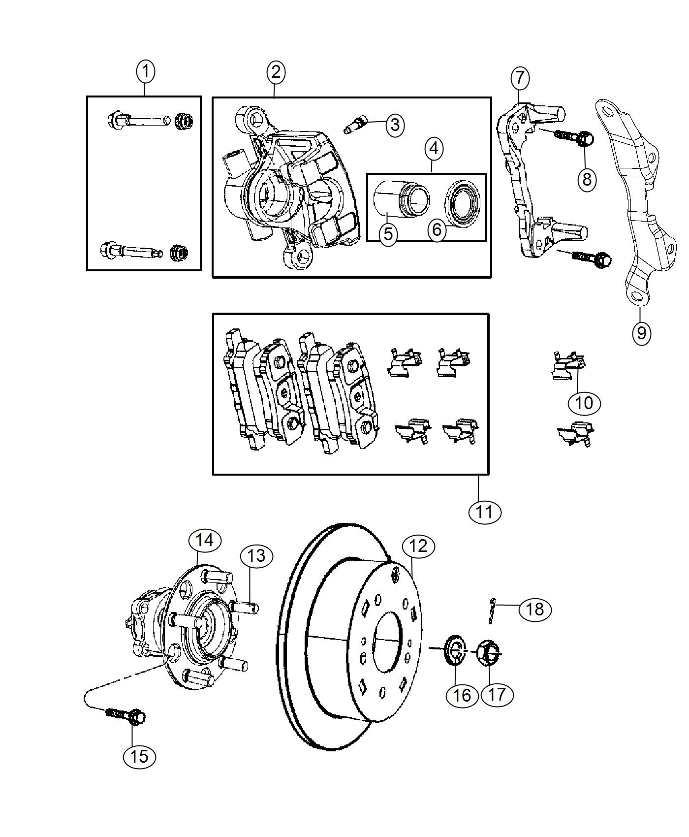 2016 Jeep Patriot Bracket. Brake caliper. Left. [anti-lock