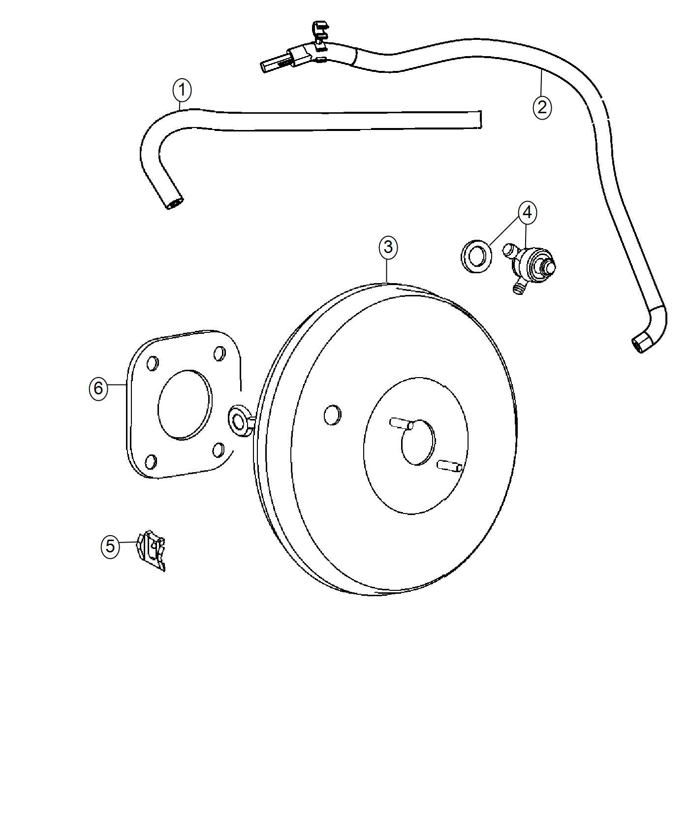 Jeep Compass Hose. Brake booster vacuum. Maintenance
