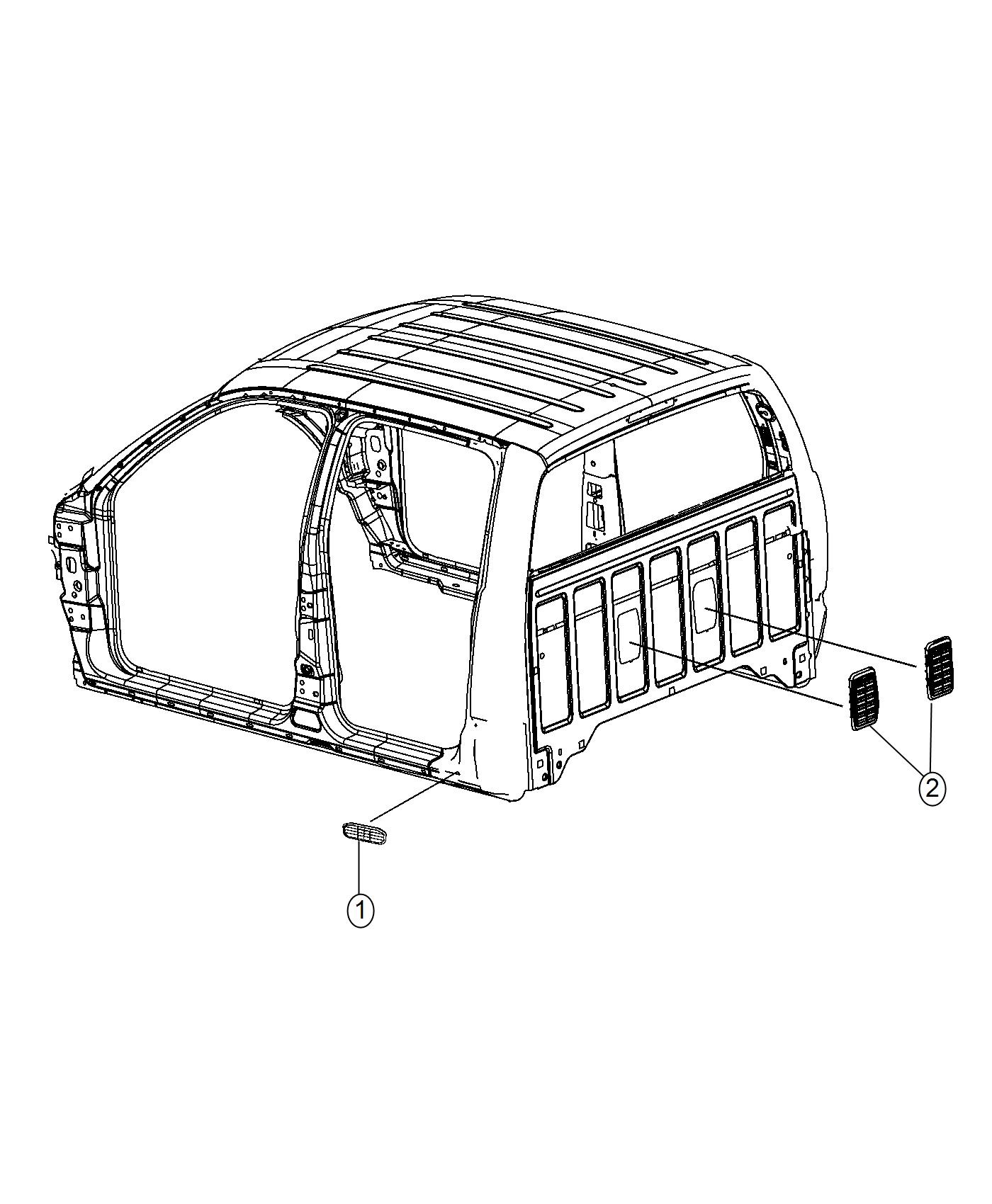 Ram Exhauster Grille Bodyside Aperture Vent
