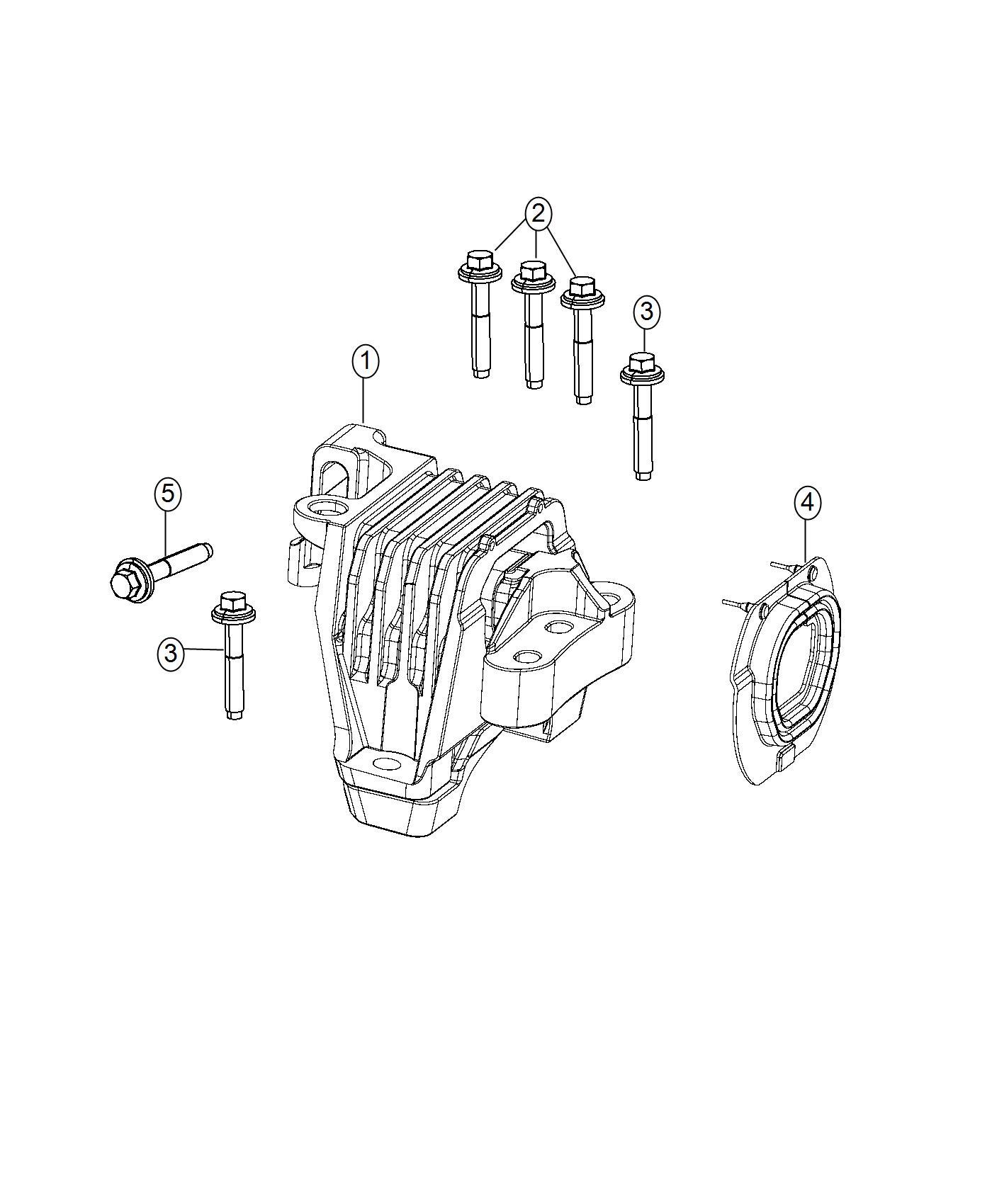 Chrysler 200 Isolator Engine Mount Assembly Touring Suspension 4 Whl Indep