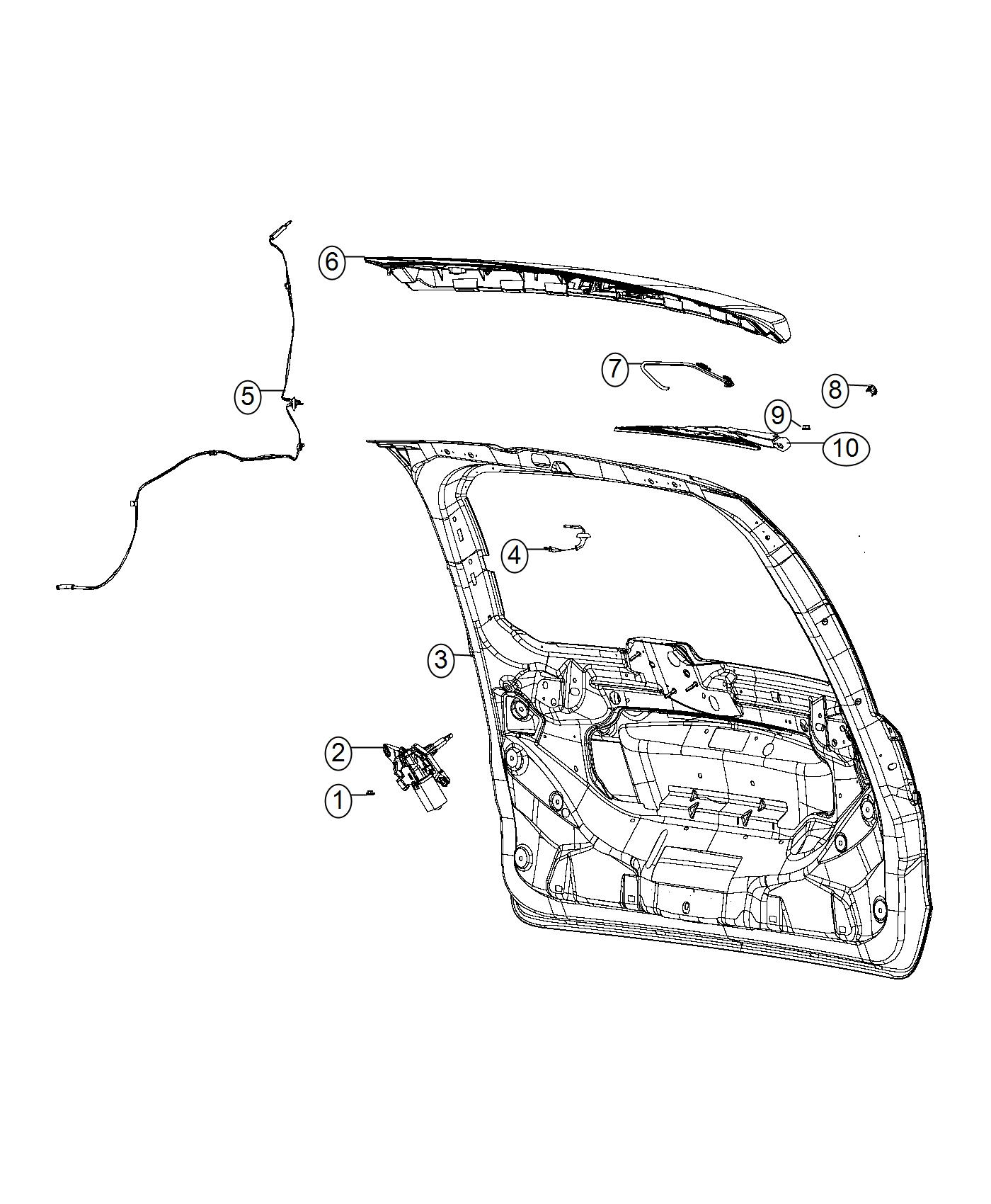 Chrysler Town & Country Hose. Liftgate washer. Engine