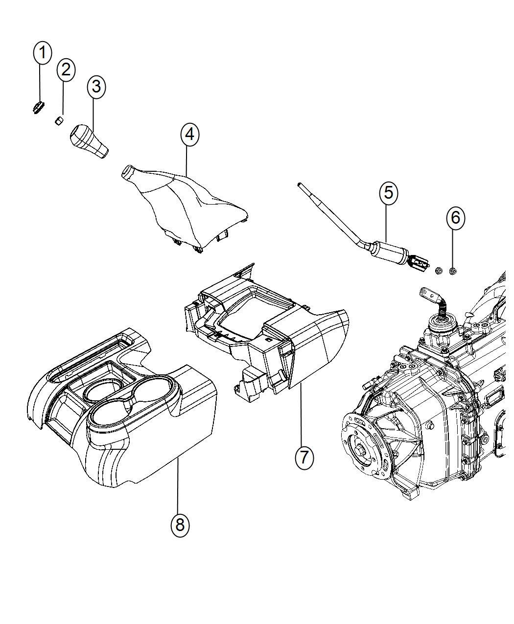 Ram Console Floor Rear Trim No Description