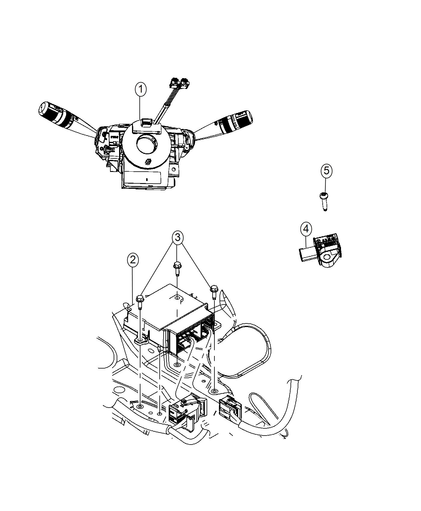 2013 Dodge Journey Clockspring. Steering column control
