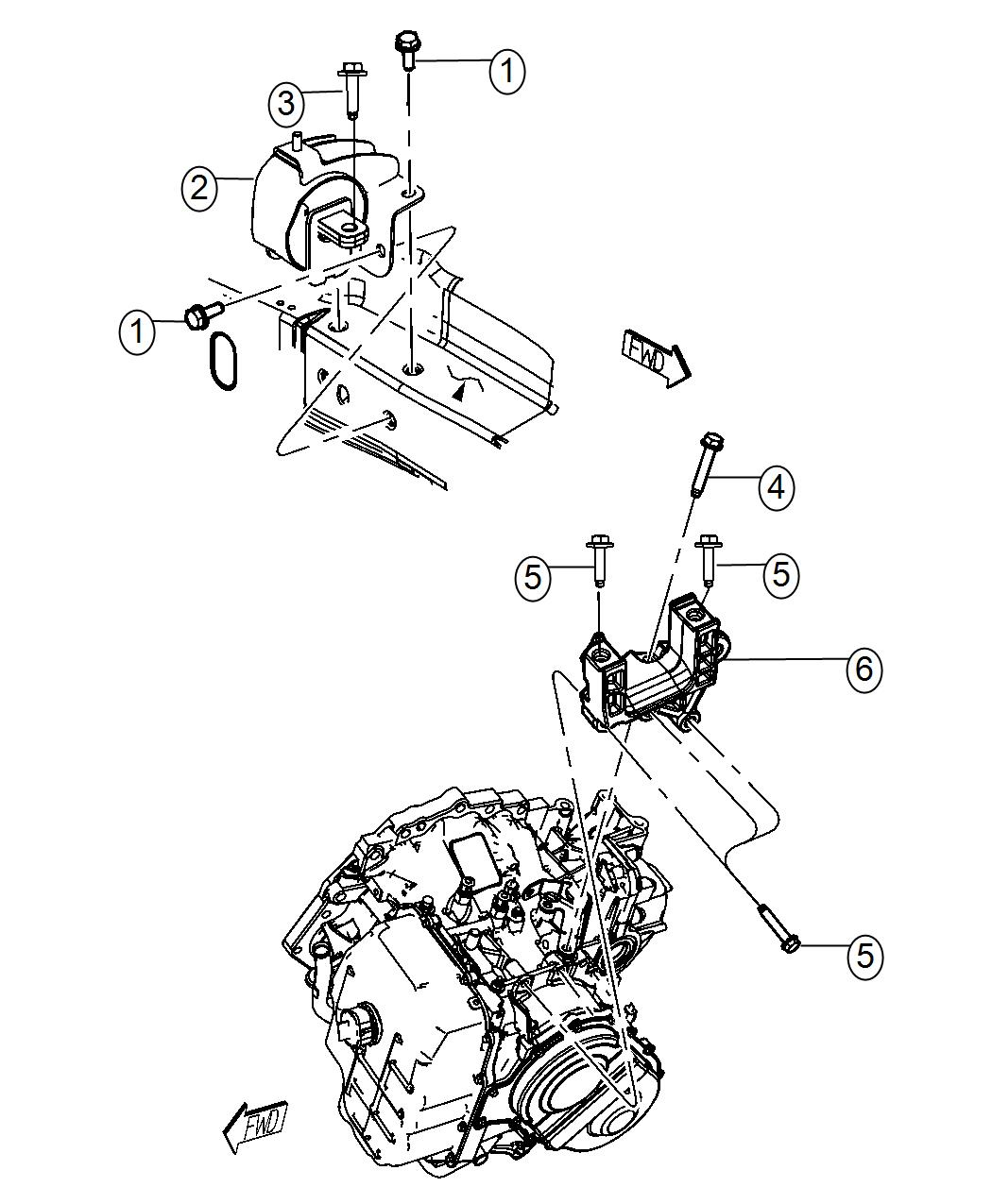 Chrysler Town Amp Country Support Transmission Mount