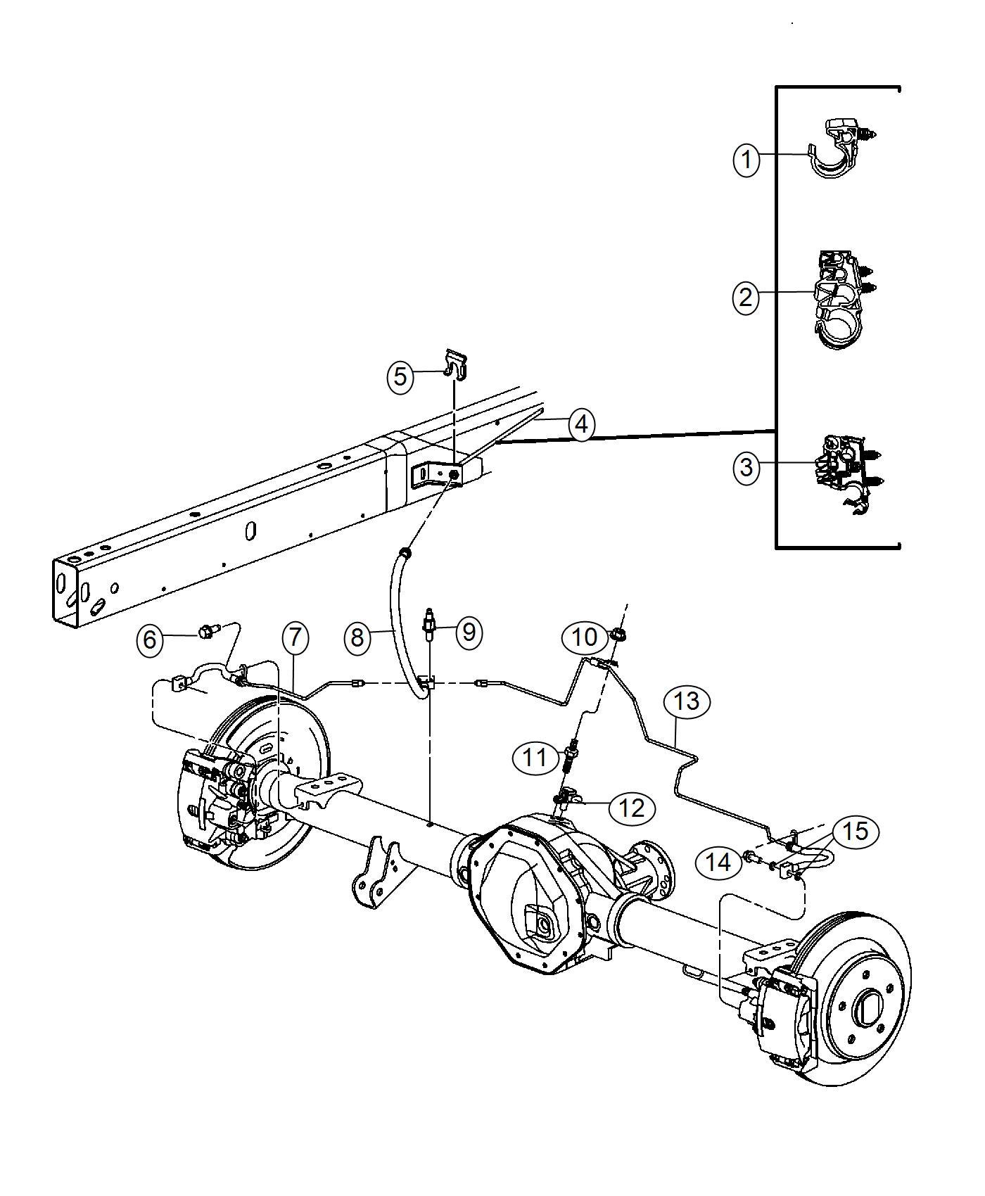 Ram Bumper Rubber Brake Line 5x20mm Brake