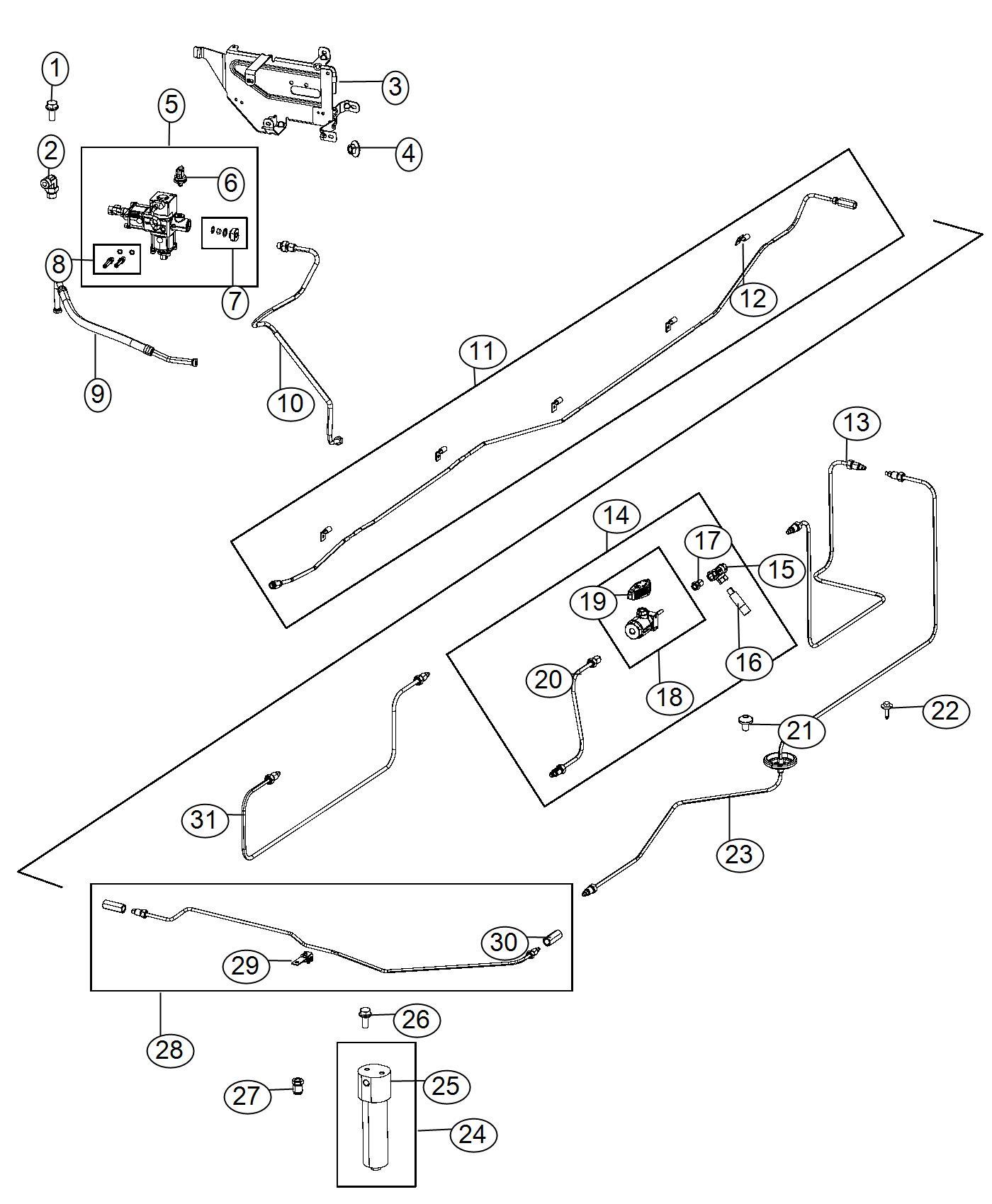 Ram 2500 Bracket. Pressure regulator. Fuel, cng, lines