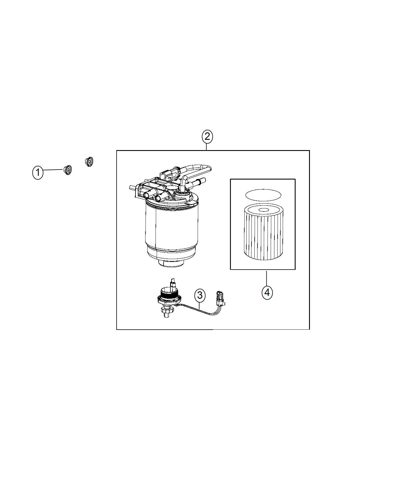 Ram Filter Kit Fuel Water Separator Gasket Sensor