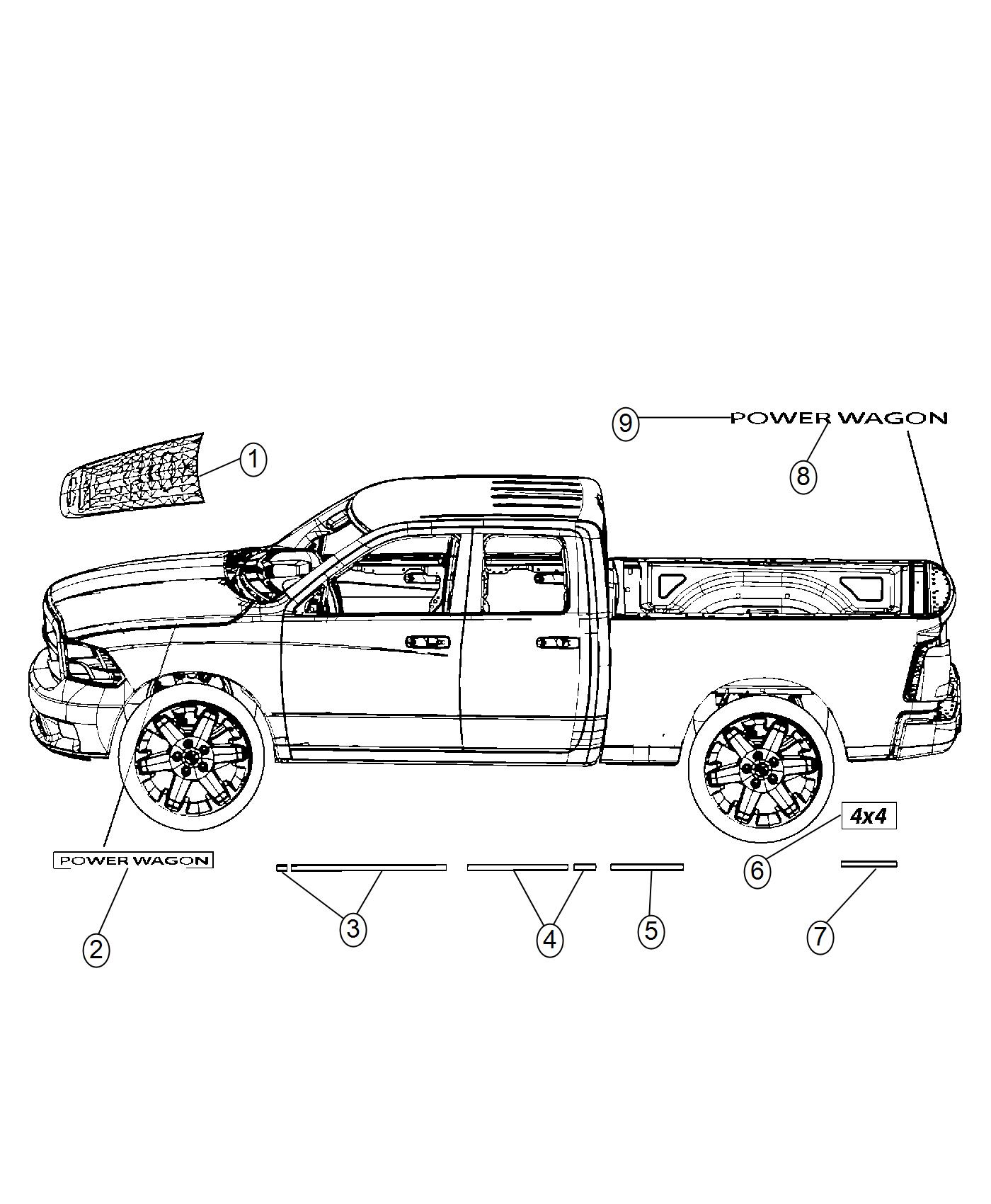 Ram Decal Tailgate Power Wagon Other Plimited