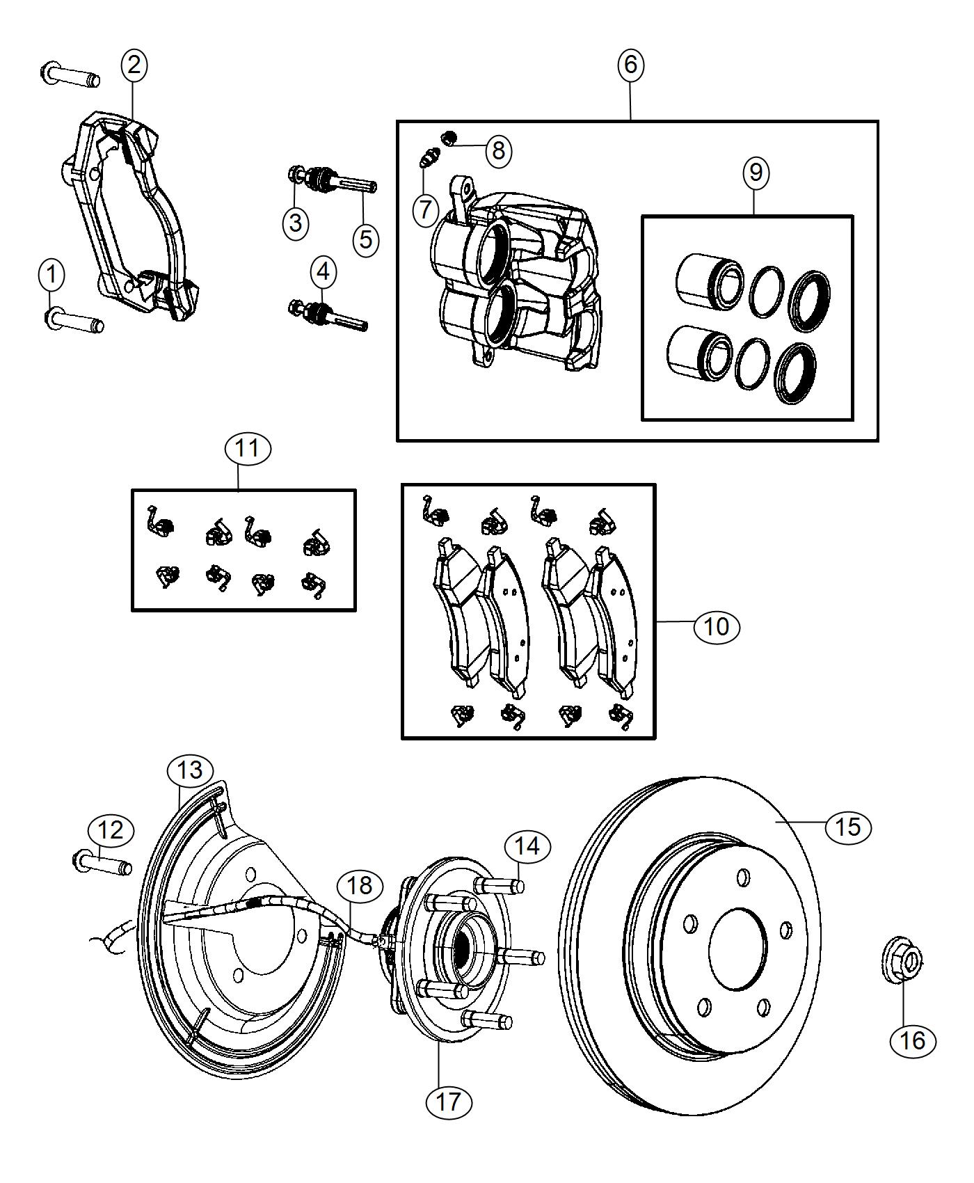 Ram Used For Hub And Bearing Brake Front