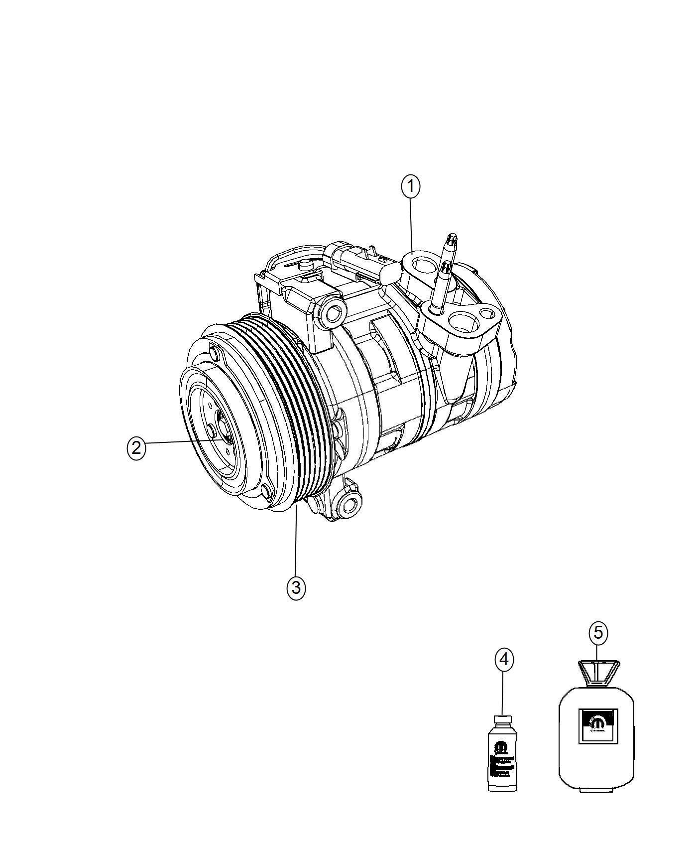 Jeep Wrangler Pulley Hub Kit A C Compressor Air