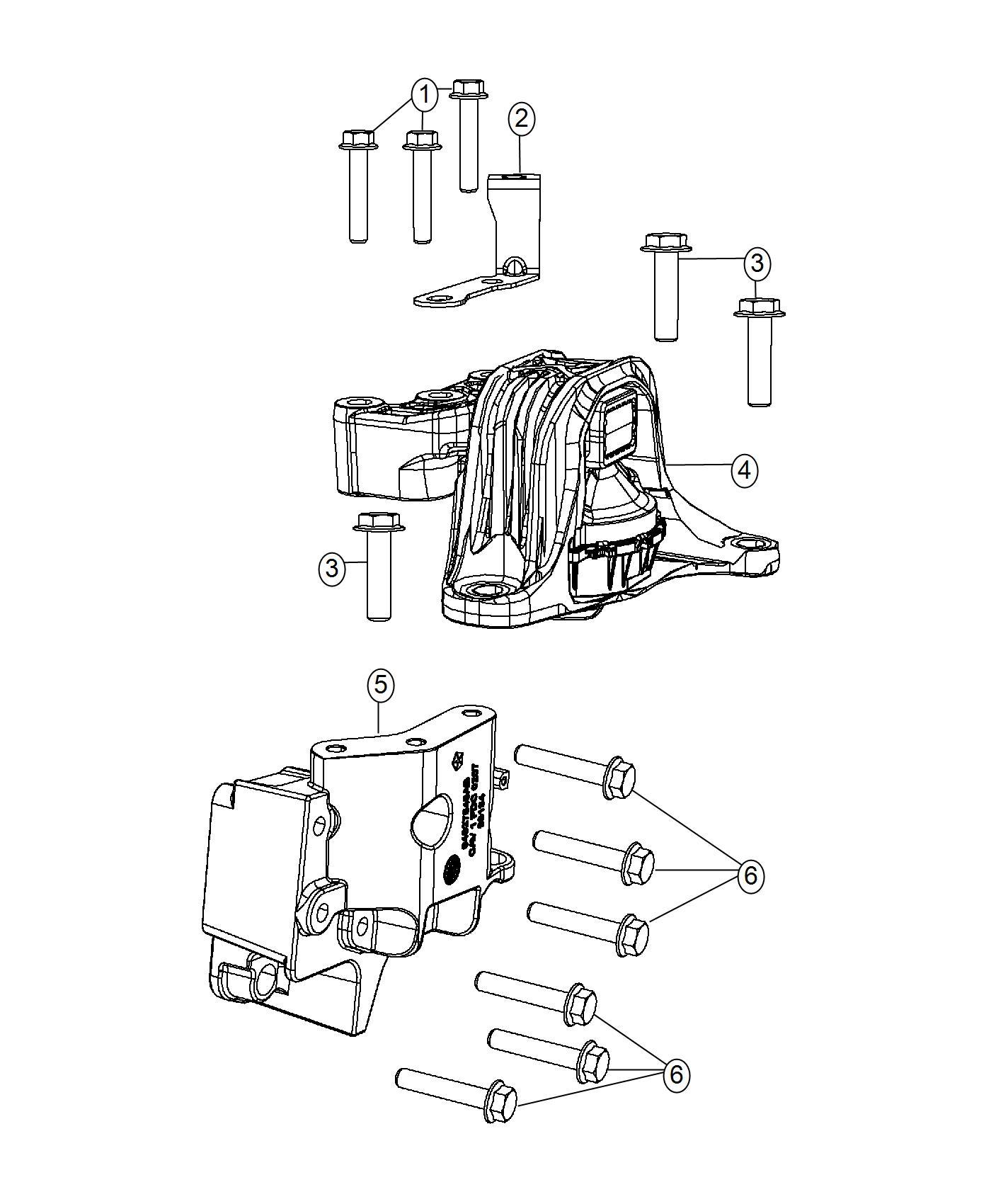 Fiat 500 Engine mount. Right. [5-spd c510 manual