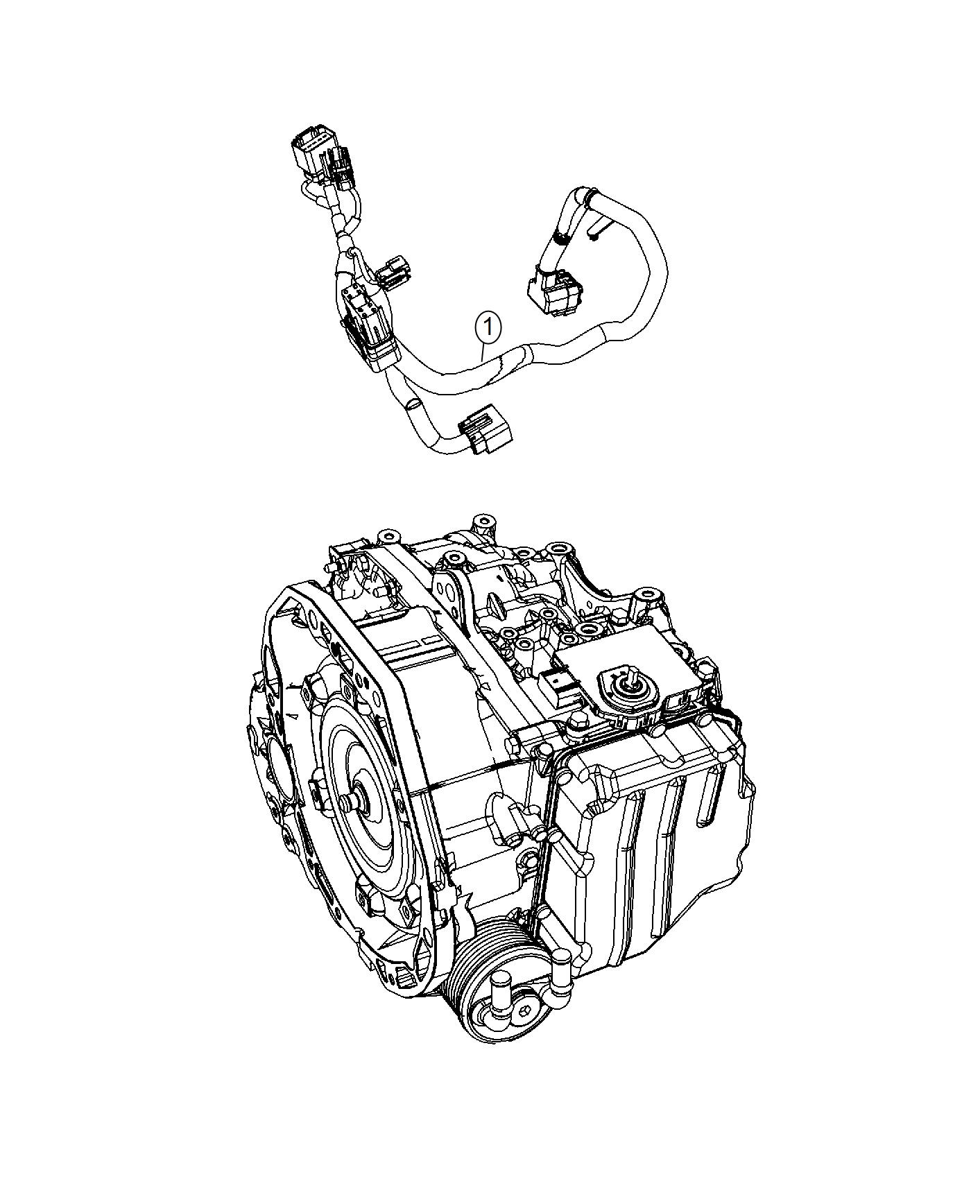 Fiat 500c Wiring Transmission Transfer Mopar Cases