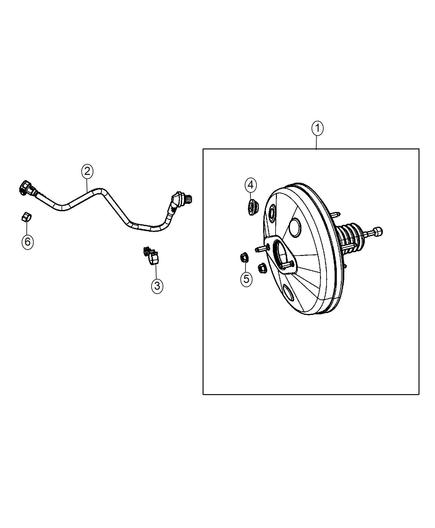 Fiat 500C Hose. Brake booster vacuum. [5-spd c514 manual