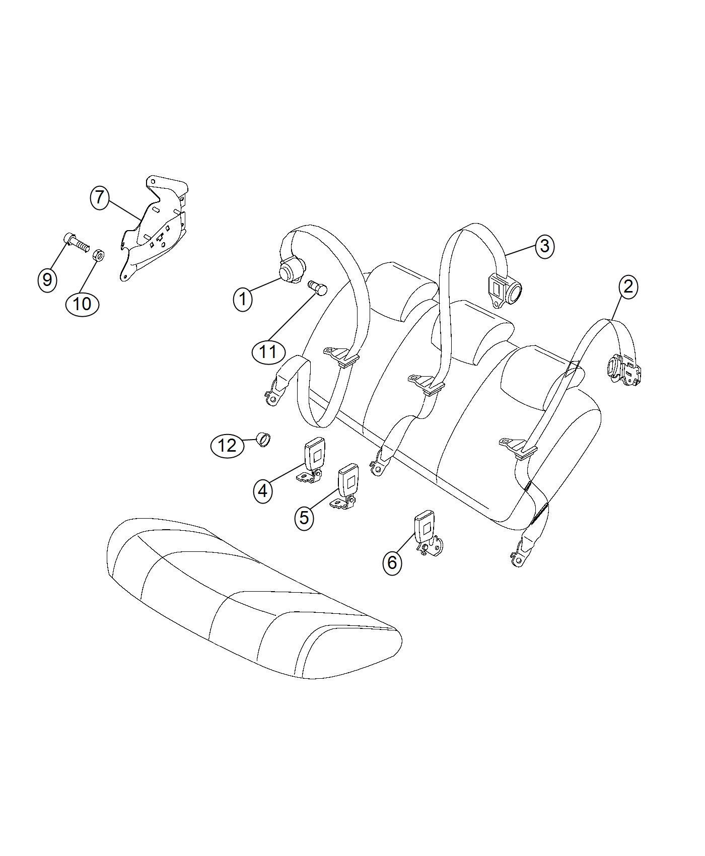 Ram Promaster City Wagon Seat Belt Retractor Trim