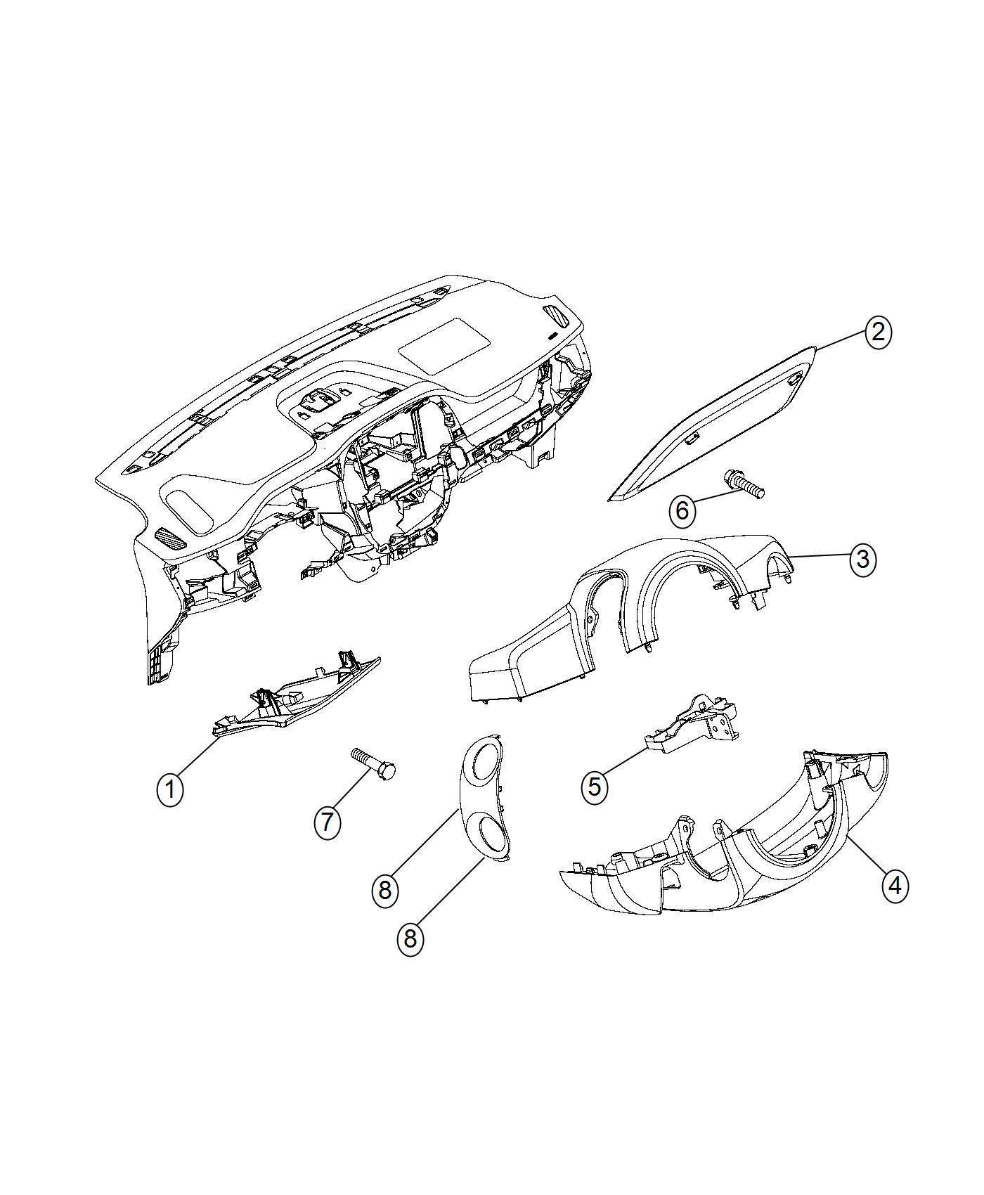 Ram Promaster City Wagon Shroud Steering Column Lower Trim No Description Available