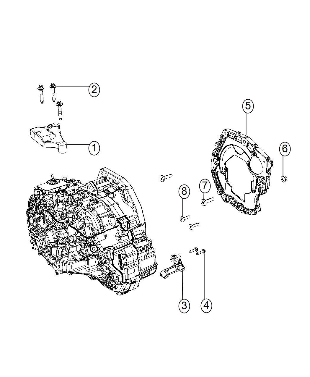 Fiat 500 Adapter. Transmission. Support, mounting, mopar