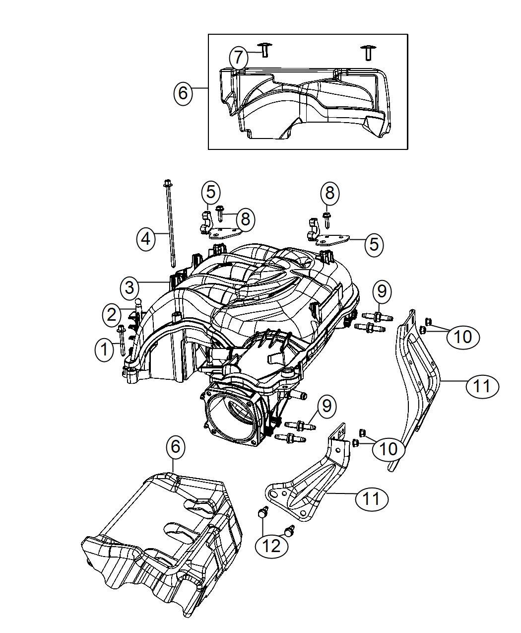 Jeep Wrangler Plenum Intake Manifold Engine Vvt