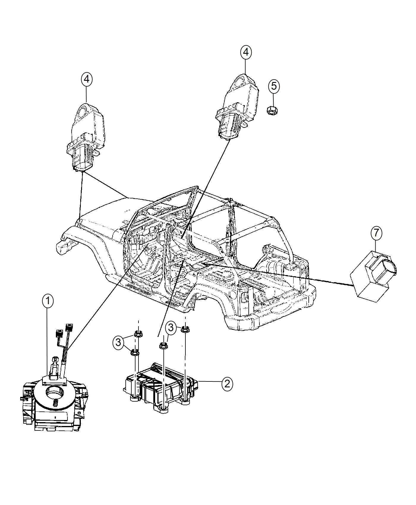 Jeep Wrangler Clockspring. Steering column control module