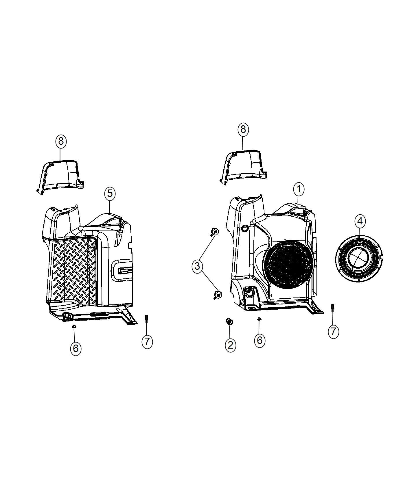2016 Jeep Wrangler Stud. 1 end. M6x1.00x22.00. Trim