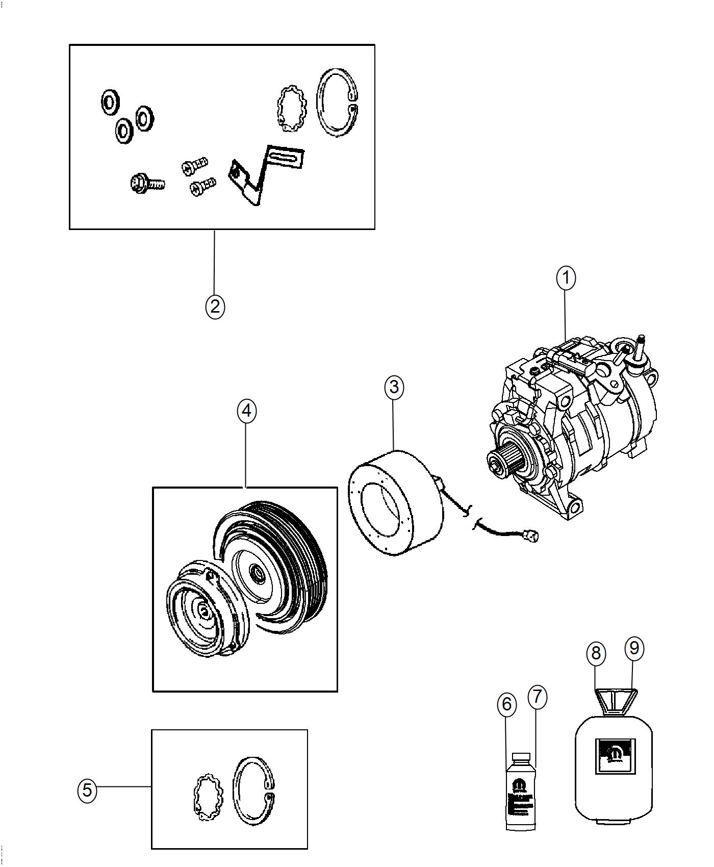 2016 Dodge Challenger Coil. Air conditioning clutch