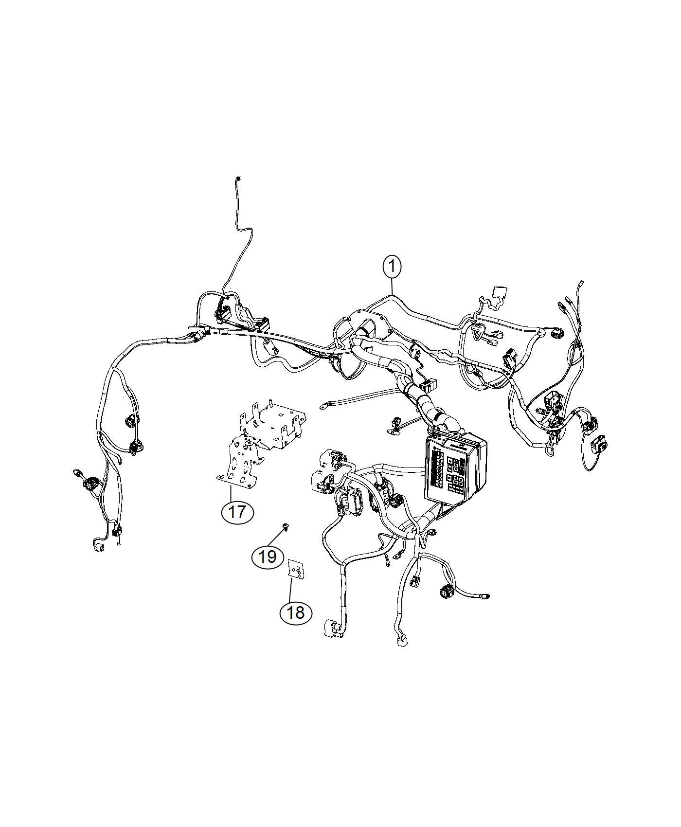 Fiat 500C Wiring. Headlamp to dash. Speakers, marked