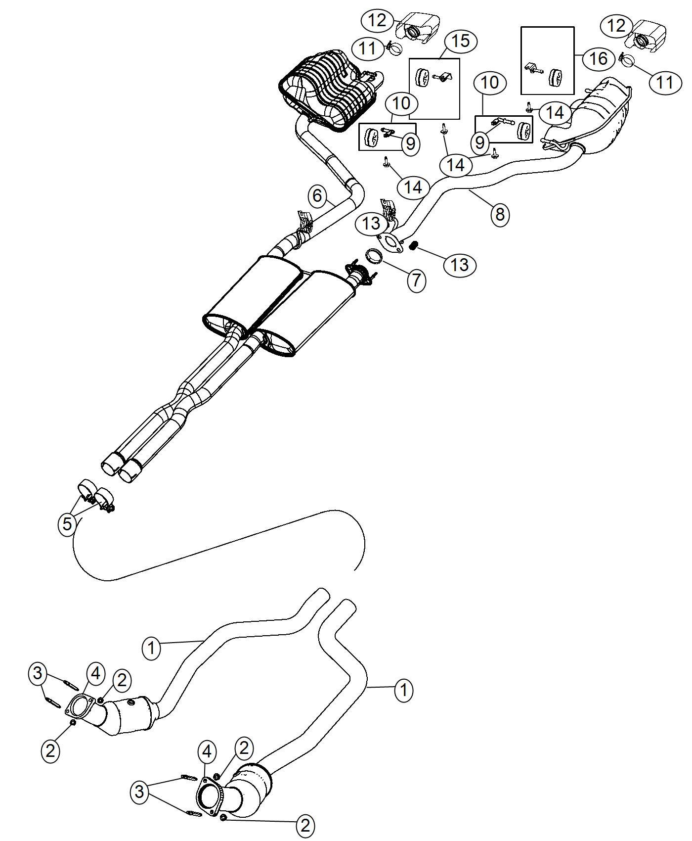 Dodge Challenger Used For Muffler And Resonator