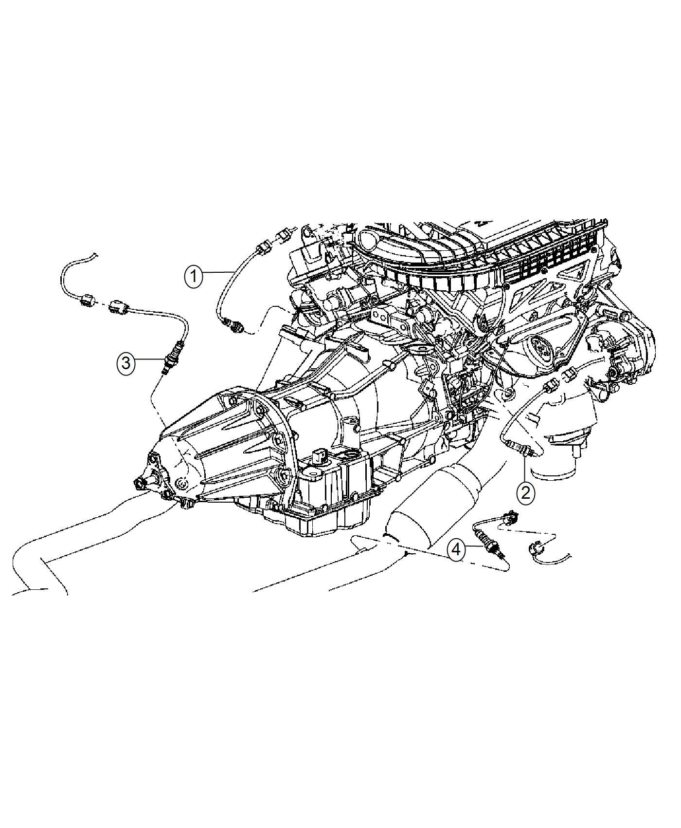 Chrysler 300 Bracket Oxygen Sensor Left Left Side