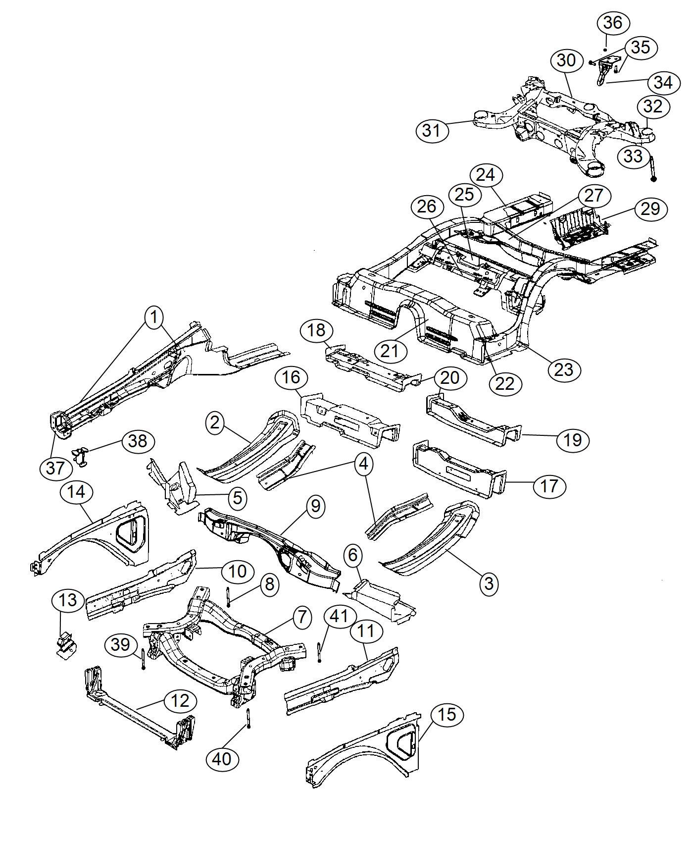 2016 Dodge Charger Crossmember. Front suspension. Frame