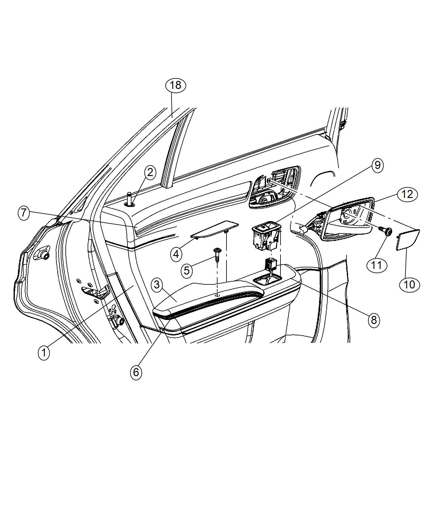 Chrysler 300 Handle Inside Release Inside Remote