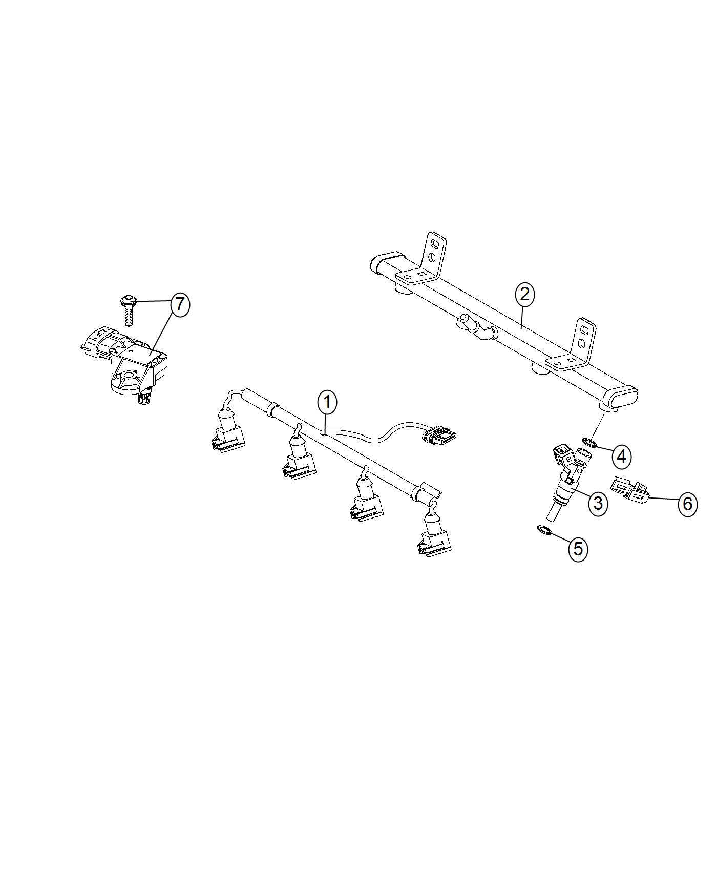 Jeep Renegade Seal Fuel Injector Export Eam