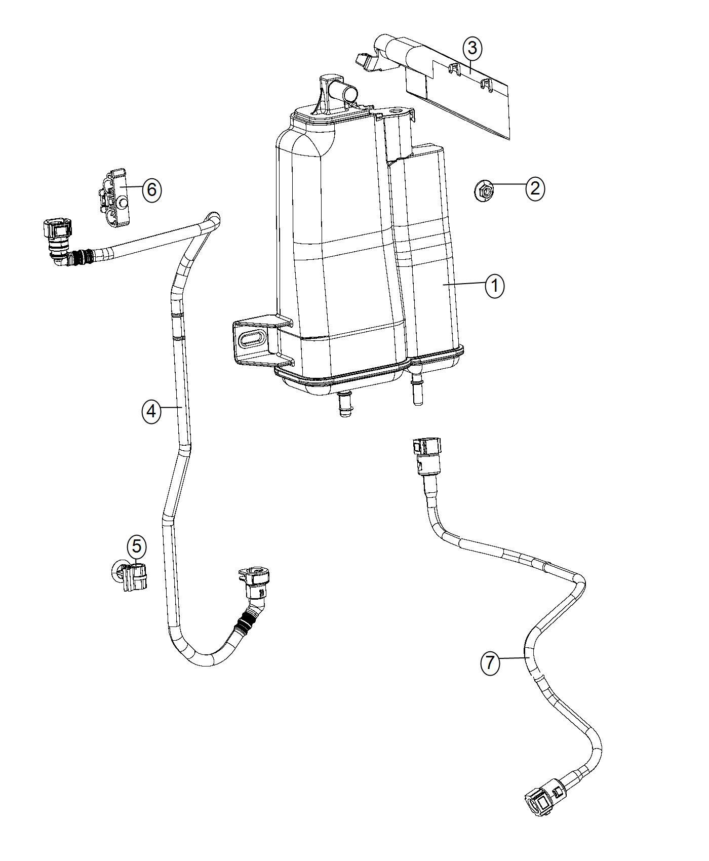 2016 Jeep Renegade Clip. Fuel line. Canada, mexico. Lines