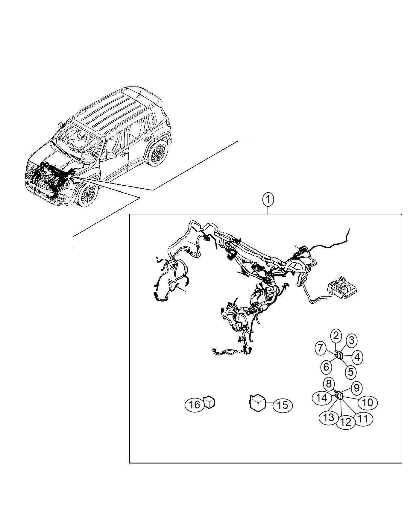 2016 Jeep Renegade Fuse. Maxi. 40 amp, orange. Canada