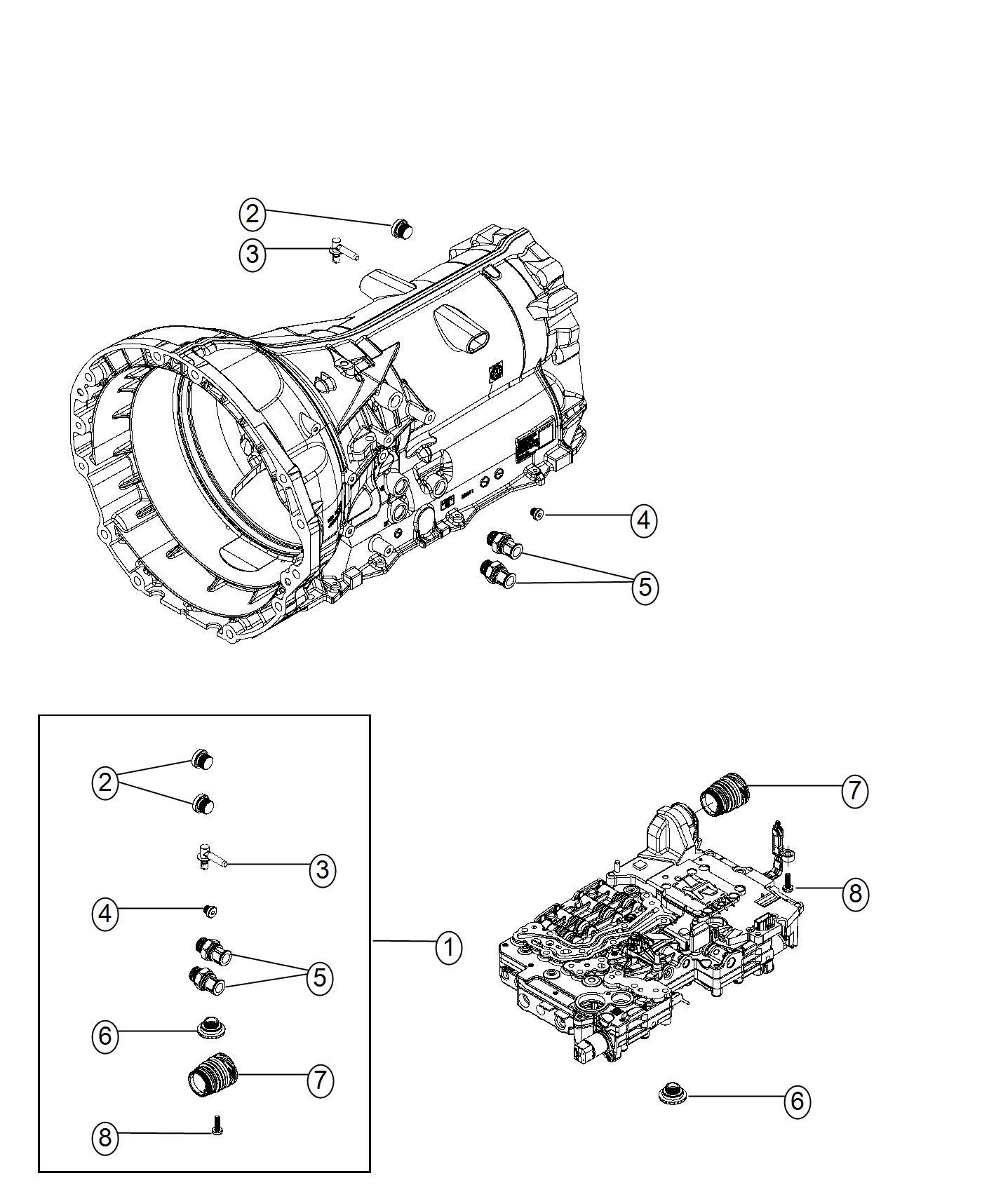 Dodge Charger Plug kit. Transmission. [adaptation
