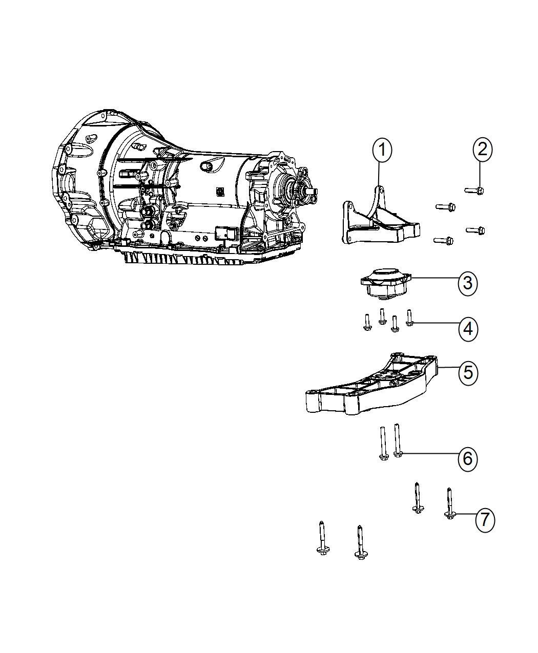 2016 Dodge Charger Bracket. Transmission mount