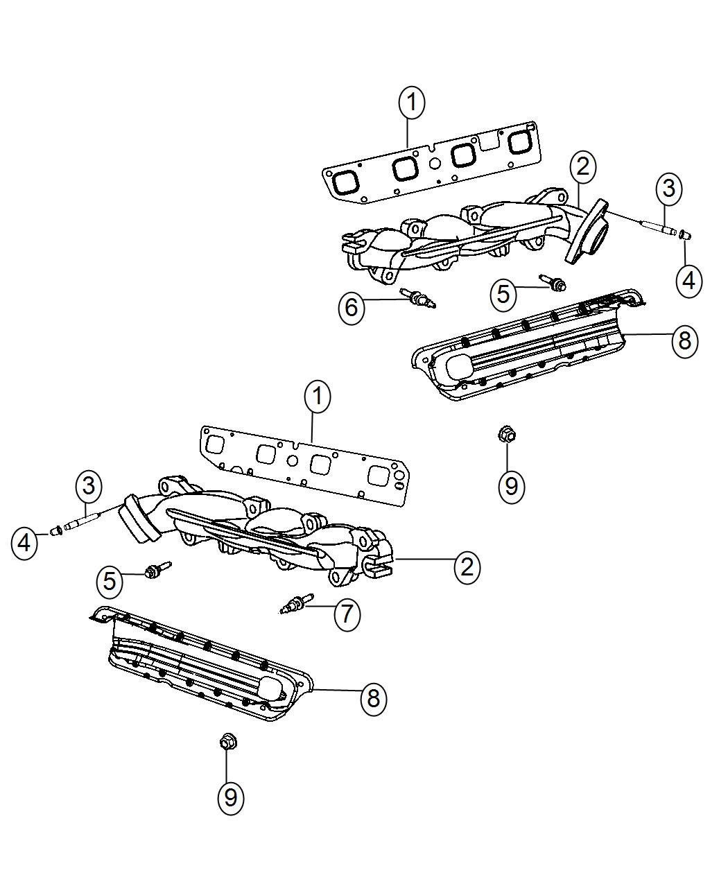 Dodge Charger Bolt Hex Flange Head M8x1 25x48 50