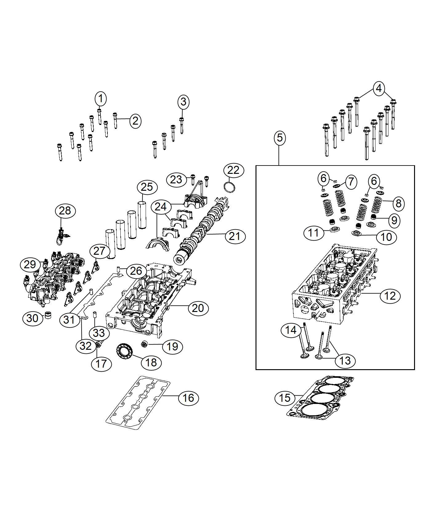 2017 Jeep Renegade Sensor. Temperature. Valvetrain