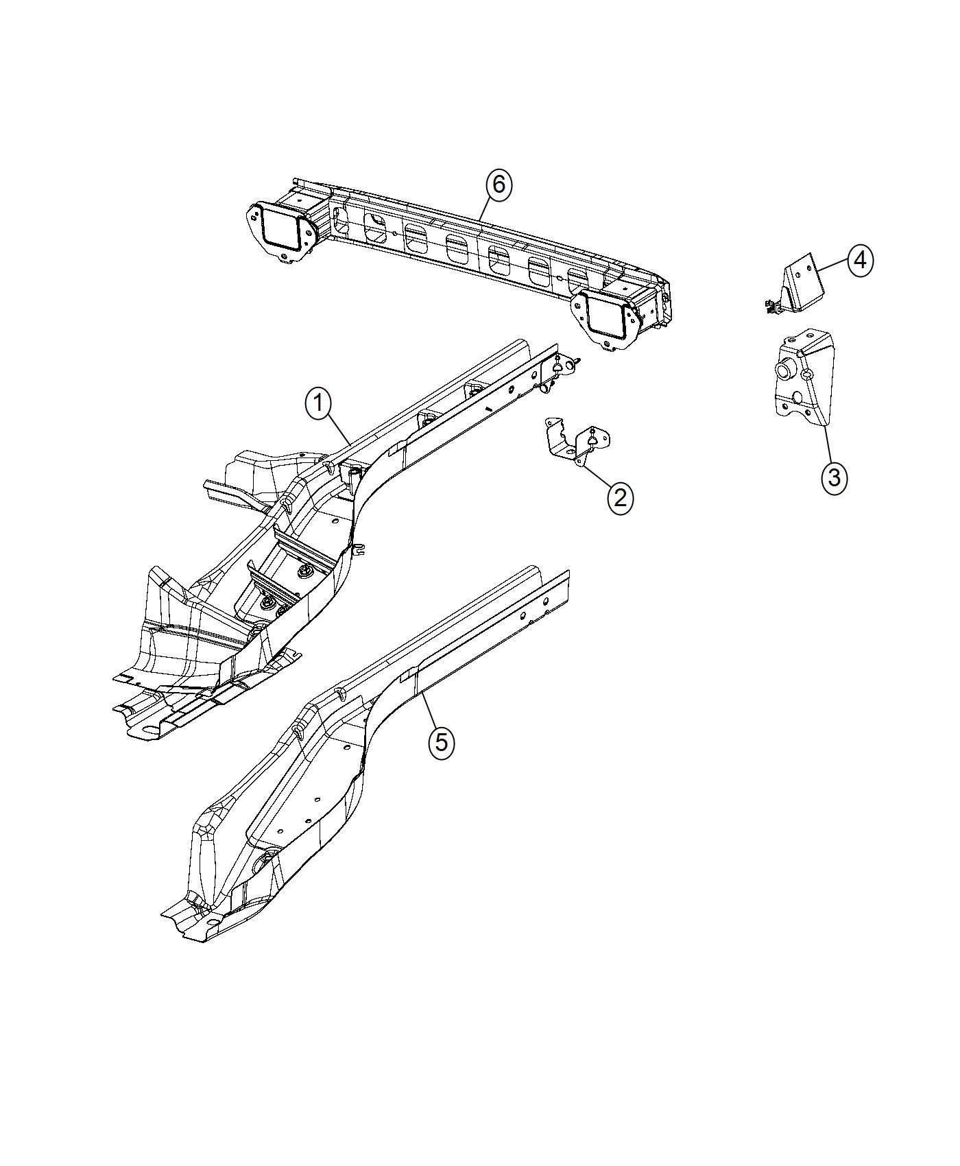2016 Jeep Renegade Bracket. Tow hook. Left. Hooks, front