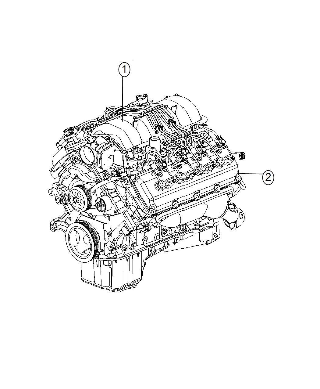Dodge Challenger Engine. Complete. Mds, long, service
