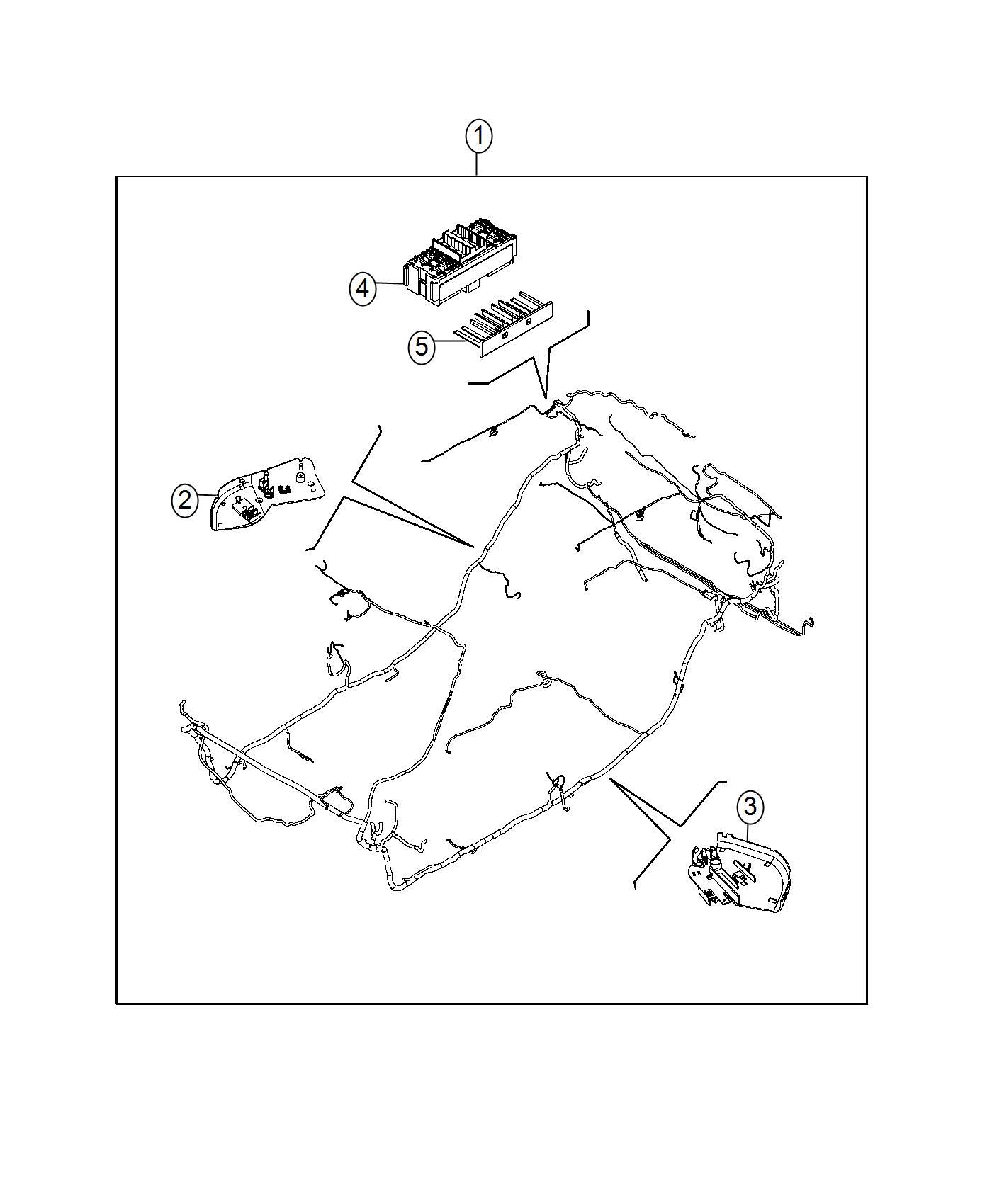 Fiat 500l Bracket Wiring Harness Left