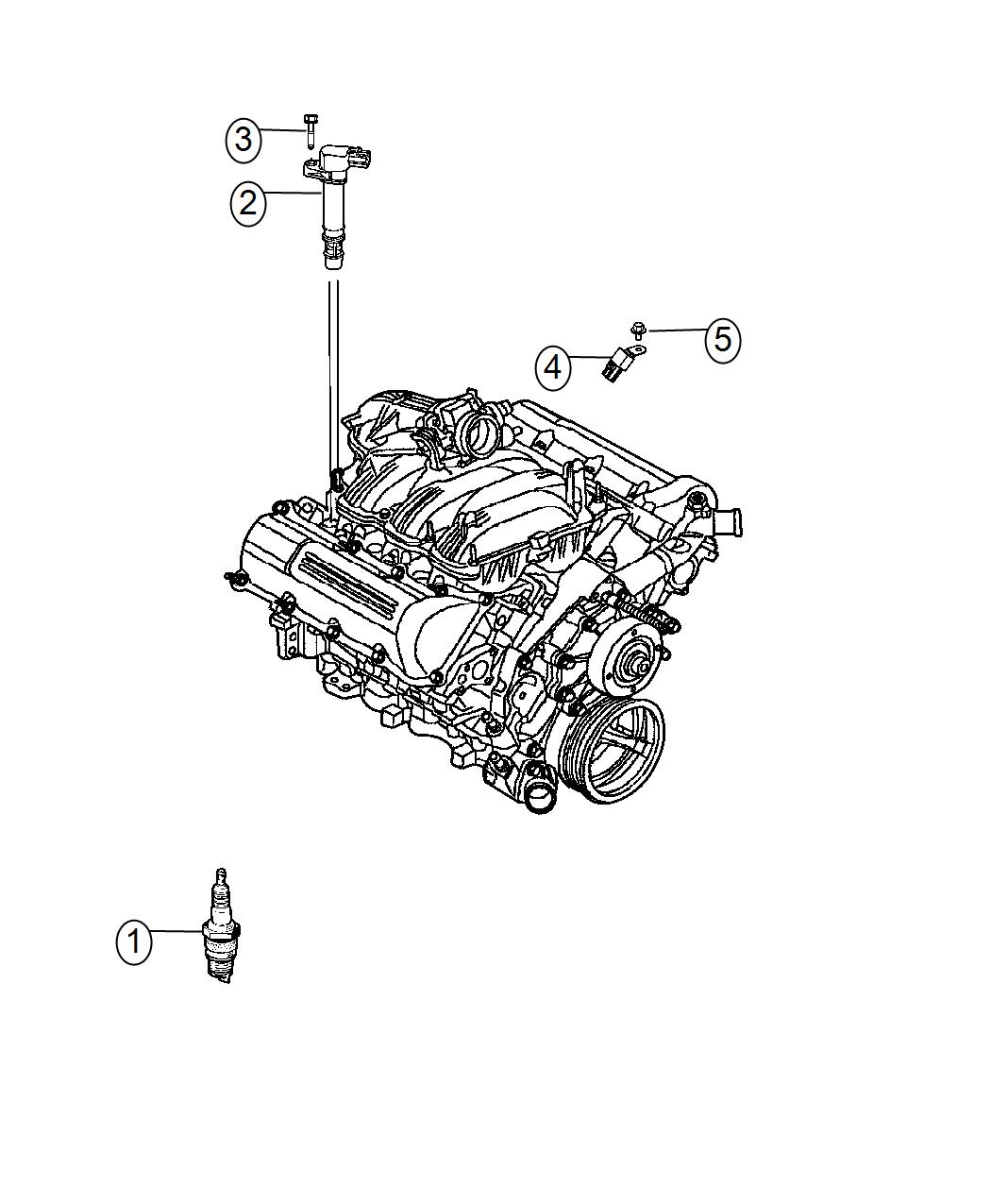 2016 Jeep Grand Cherokee Coil. Ignition. Plugs, spark