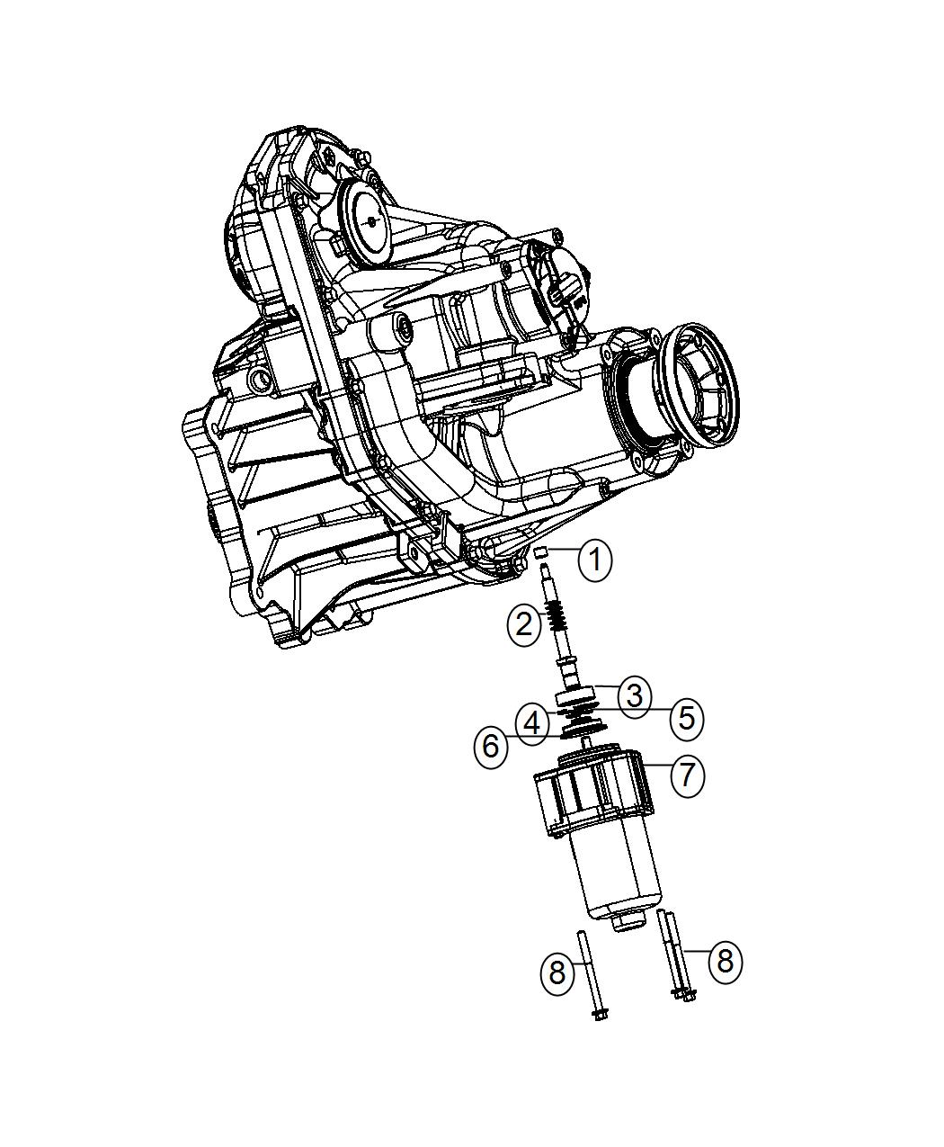 2016 Jeep Grand Cherokee Gear motor. Transfer case. Demand