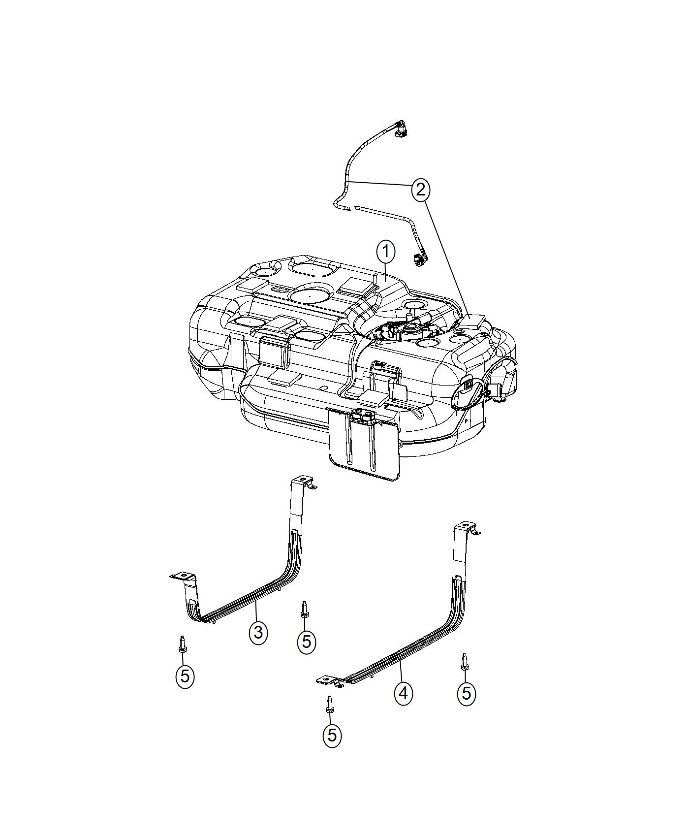 2017 Chrysler Pacifica Tank. Fuel. [19 gallon fuel tank