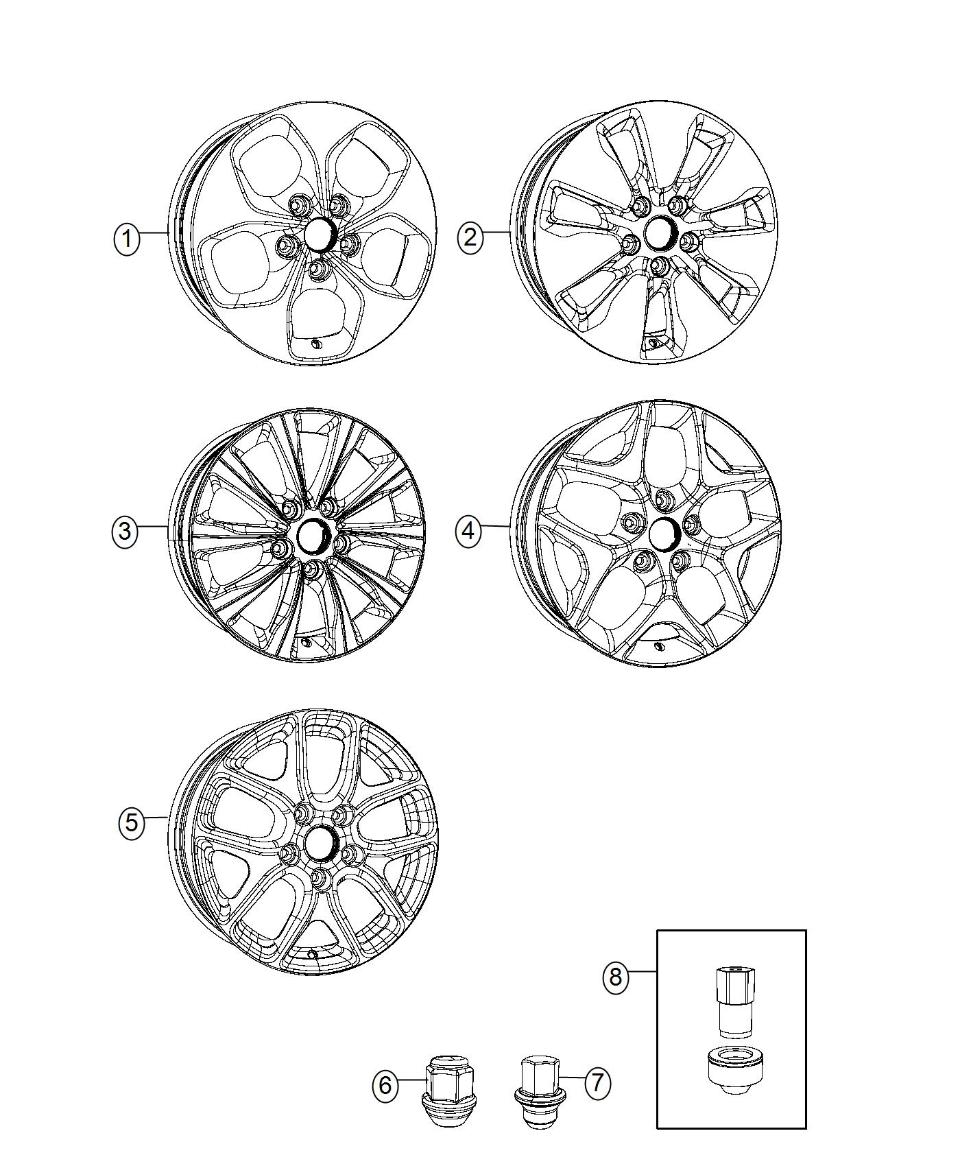 2017 Chrysler Pacifica Wheel. Aluminum. Front or rear. [18