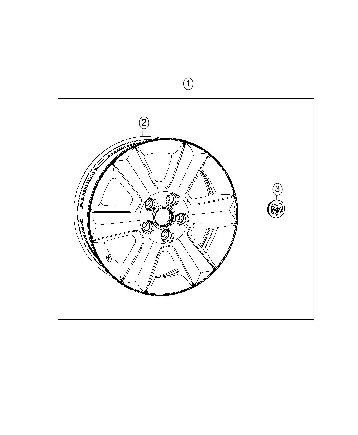 Dodge Journey Wheel Aluminum Front Or Rear Color
