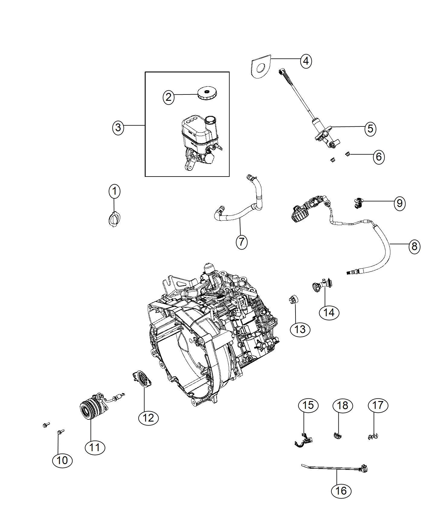 2015 Chrysler 200 Master cylinder. Brake. Wheel, lock