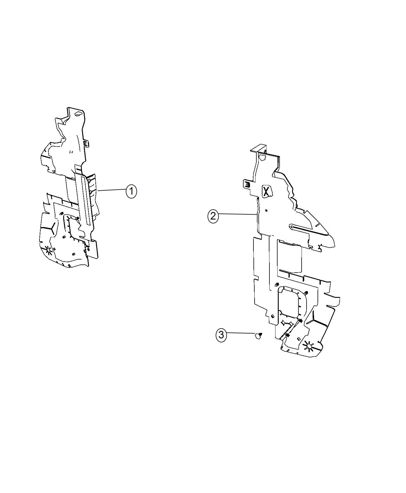 2017 Dodge Journey Seal, shield. Radiator side air, side
